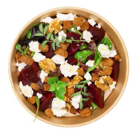 Rotebeete-Ziegenkäse-Salat
